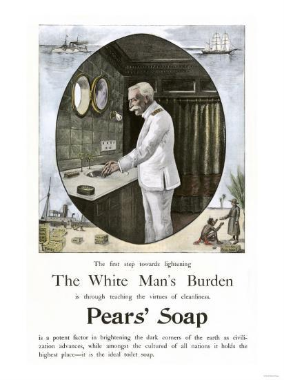 White Man's Burden Is to Teach Cleanliness--Giclee Print