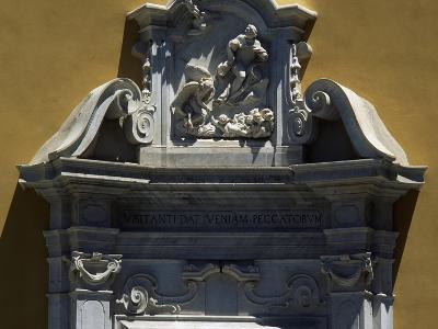 White Marble Pediment, Door to the Church of the Suffrage--Giclee Print