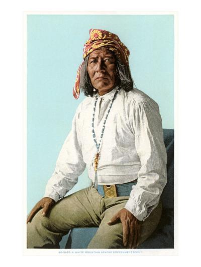 White Mountain Apache Government Scout--Art Print