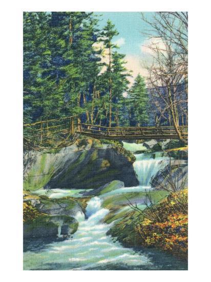 White Mountains, New Hampshire, View of the Franconia Notch Basin-Lantern Press-Art Print
