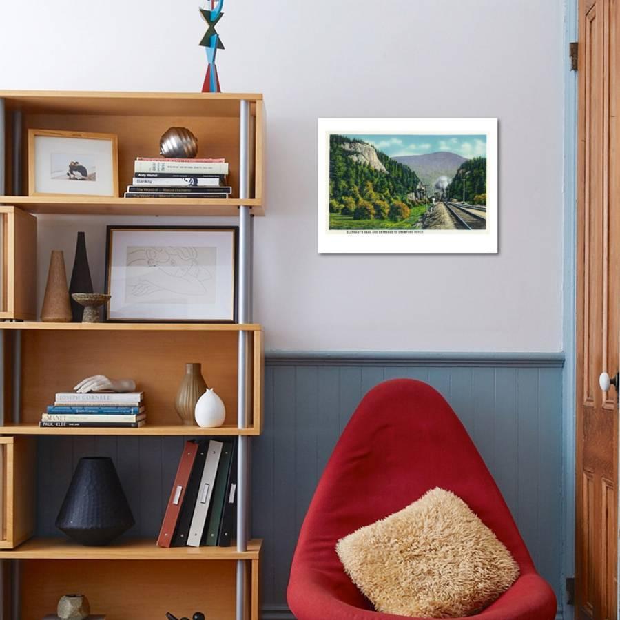 White mountains nh view of elephants head and crawford notch entrance art print by lantern press art com