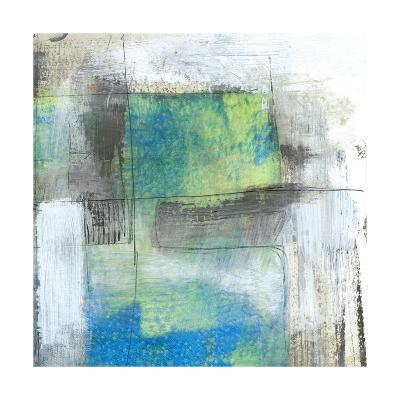 White on Blue II-Jennifer Goldberger-Art Print