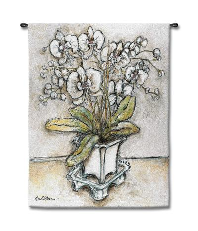 White Orchid-Nicole Etienne-Wall Tapestry