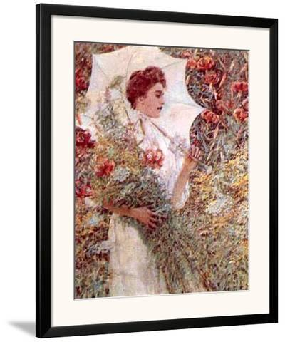 White Parasol-Robert Payton Reid-Framed Art Print
