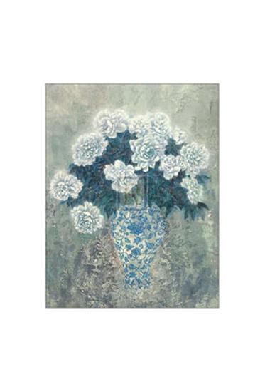 White Peonies-Cai Xiaoli-Art Print