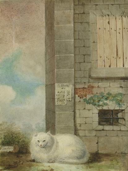 White Persian Cat-Laslett John Pott-Giclee Print