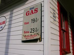 Signs on a Historic Gas Station Offer Gas for 19 Cents a Gallon by White & Petteway
