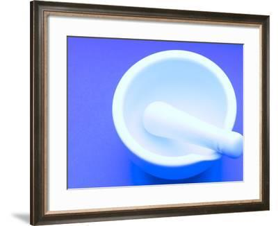 White Porcelain Mortar and Pestle--Framed Photographic Print
