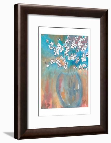 White Posey-Beverly Dyer-Framed Art Print