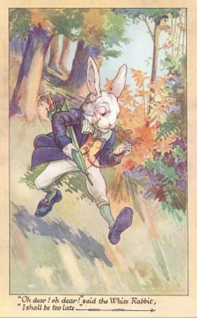 White Rabbit Checking Watch
