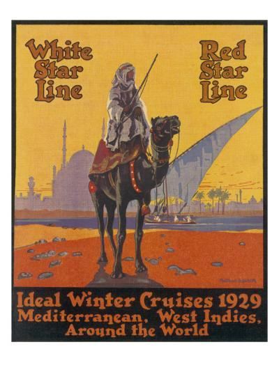 White / Red Star Lines Winter Cruises--Giclee Print