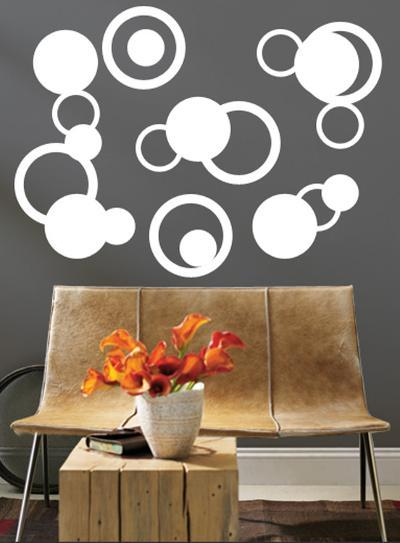 White Rings--Wall Decal