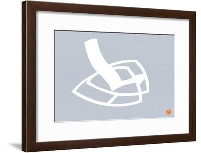 White Rocking Chair-NaxArt-Framed Art Print
