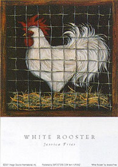 White Rooster-Jessica Fries-Art Print