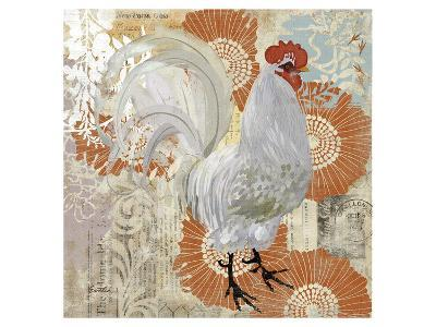 White Rooster--Art Print