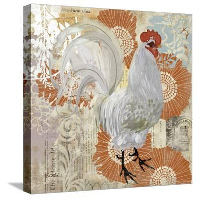 White Rooster--Stretched Canvas Print