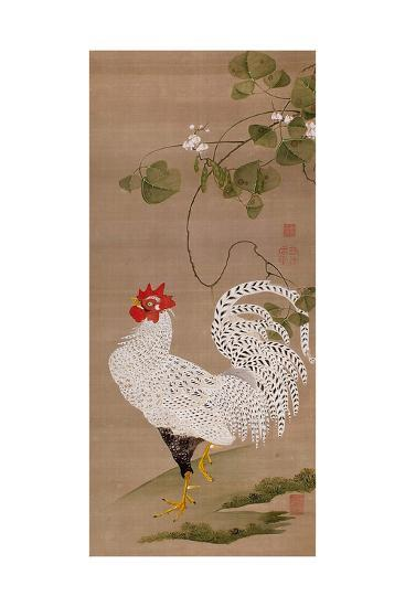 White Rooster-Jakuchu Ito-Giclee Print