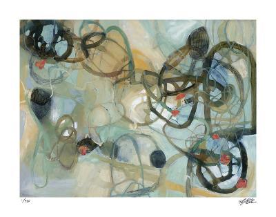 White Rose Vine 1-Liz Barber-Giclee Print