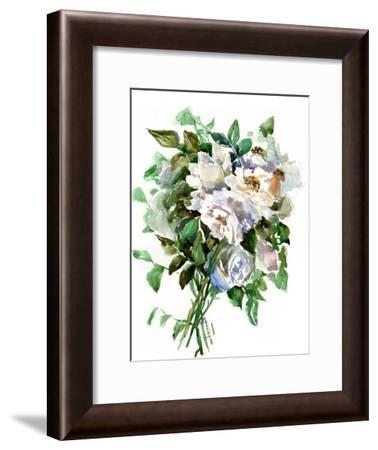 White Roses 2-Suren Nersisyan-Framed Art Print