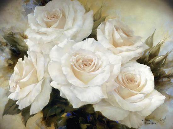 White Roses III-Igor Levashov-Art Print