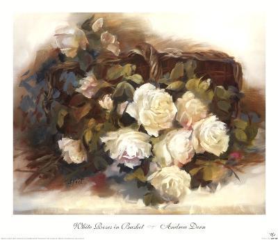 White Roses in Basket-Andrea Dern-Art Print