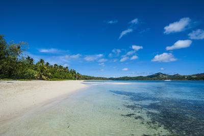 White Sand Beach and Turquoise Water at the Nanuya Lailai Island, Blue Lagoon, Yasawa, Fiji-Michael Runkel-Photographic Print