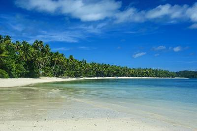 White Sand Beach and Turquoise Water at the Nanuya Lailai Island, the Blue Lagoon, Yasawa, Fiji-Michael Runkel-Photographic Print