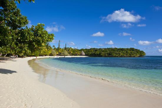 White Sand Beach Bay De Kanumera, Ile Des Pins, New Caledonia, Melanesia, South Pacific-Michael Runkel-Photographic Print