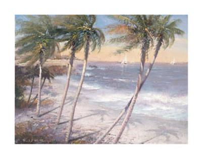 White Sand Beaches-Paul Mathenia-Art Print