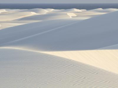 White Sand Dunes Stretch for Miles at Aomak Beach-Michael Melford-Photographic Print