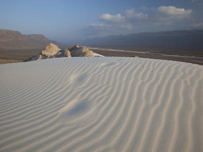 White Sand Dunes Stretch for Miles at Detwah Lagoon-Michael Melford-Photographic Print