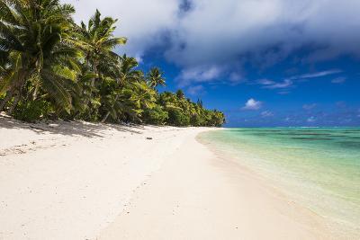 White Sandy Beach and Palm Trees on Tropical Rarotonga Island, Cook Islands, South Pacific, Pacific-Matthew Williams-Ellis-Photographic Print
