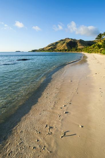 White Sandy Beach, Oarsman Bay, Yasawa, Fiji, South Pacific-Michael Runkel-Photographic Print