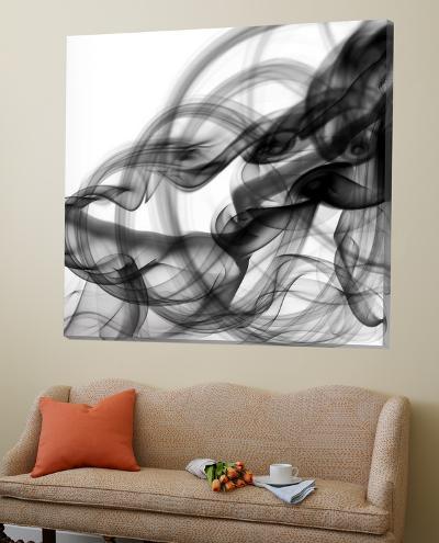 White Smoke Abstract Square-GI ArtLab-Loft Art