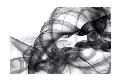 White Smoke Abstract-GI ArtLab-Premium Giclee Print
