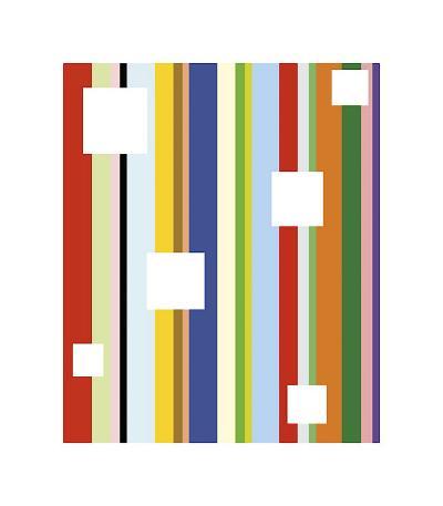 White Square on Stripe-Dan Bleier-Giclee Print