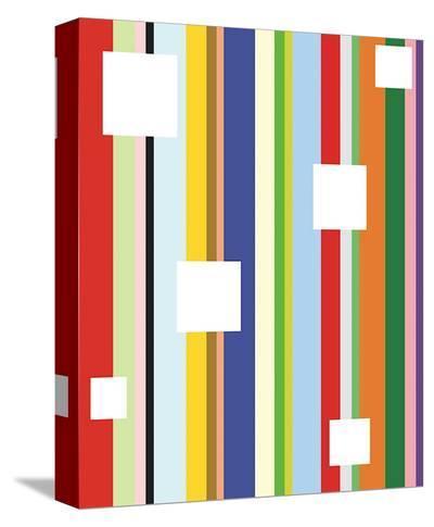 White Square on Stripe-Dan Bleier-Stretched Canvas Print
