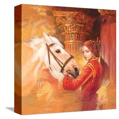 White Star 1-Joadoor-Stretched Canvas Print
