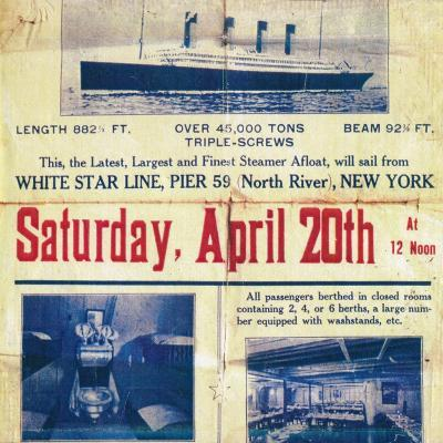 White Star Line poster to promote the Titanics return trip from New York, 1912--Giclee Print