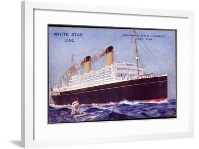 White Star Line, Twin Screw, R.M.S. Homeric--Framed Giclee Print