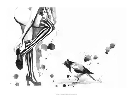 White Stripes-Lora Zombie-Art Print