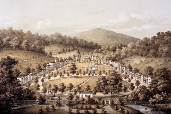 White Sulphur Springs, Montgomery County, from 'Album of Virginia', 1858-Edward Beyer-Giclee Print