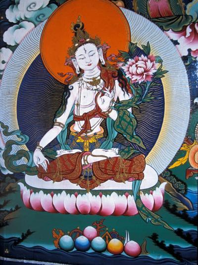 White Tara from Monastery Wall, Lhasa, Tibet-Vassi Koutsaftis-Photographic Print