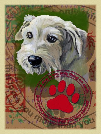 White Terrier-Cathy Cute-Giclee Print
