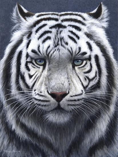 White Tiger Ghost-Jeremy Paul-Giclee Print
