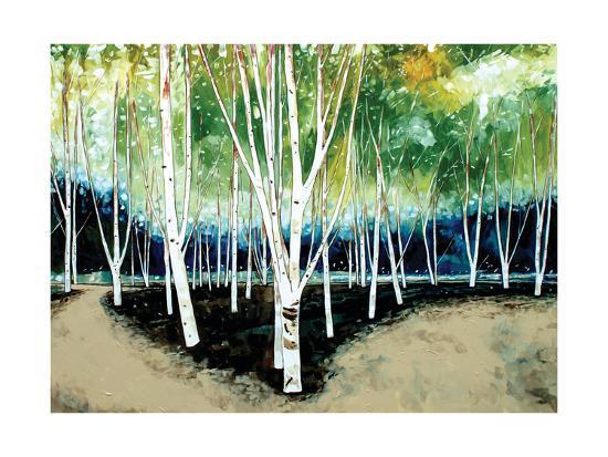 White Trees-Stuart Roy-Art Print