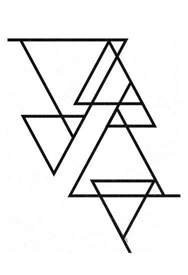 White Triangle-Gigi Louise-Art Print