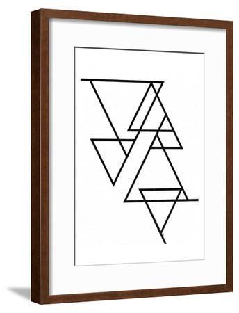 White Triangle-Gigi Louise-Framed Art Print