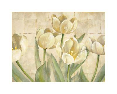 White Tulips on Ivory-Lauren Mckee-Giclee Print