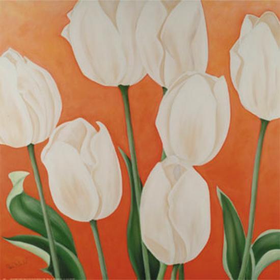 White Tulips-Erik De Andr?-Art Print